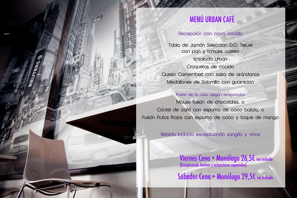 menu viernes y sabado